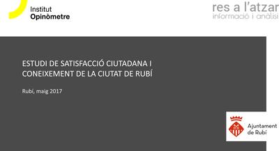 Portada estudi de satisfacció ciutadana i coneixement de la ciutat de Rubí 2017.png